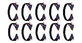 C&E 10 PCS, RG-59/U 5-RCA Component Video/Audio Coaxial Cable 1.5 Feet, CNE590561
