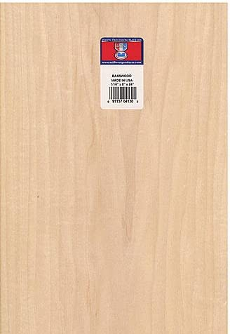 Midwest Basswood Sheets 1 16 In 8 In X 24 In 2 Pcs Sku 1841004ma Amazon Ca Home Kitchen