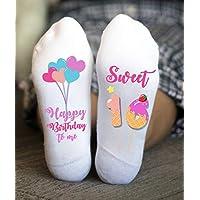 Sweet Sixteen Socks Happy Birthday Funny Girl Gifts Teenager