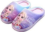 Boys Girls Warm Slippers Cartoon Kids Spiderman Elsa Home Plush Slipper