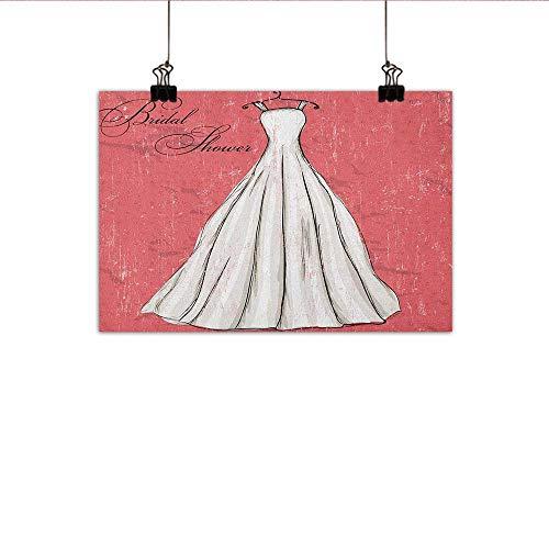 (Bridal Shower Simulation Oil Painting Retro Pink Grunge Backdrop Wedding Bride Dress Party Vintage Image Decorative Painted Sofa Background Wall 24