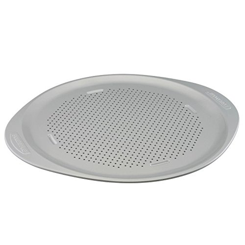 Pemberly Row Nonstick Pizza Pan in Light Gray