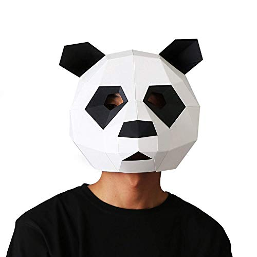 (VIPbuy 3D Paper Mask Template Animal Head Mold DIY Low-Poly Paper Craft Kit for Costume Cosplay Party (Panda)