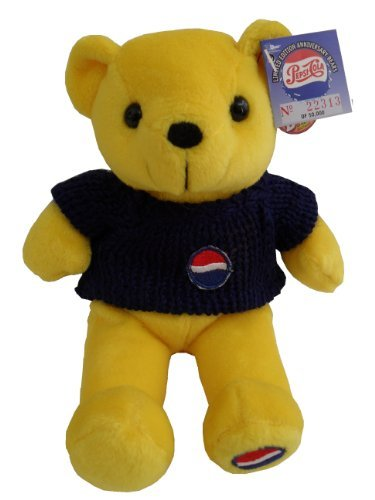 (Pepsi Cola 100th Anniversary 1999 Bear#3- Yellow Bear)