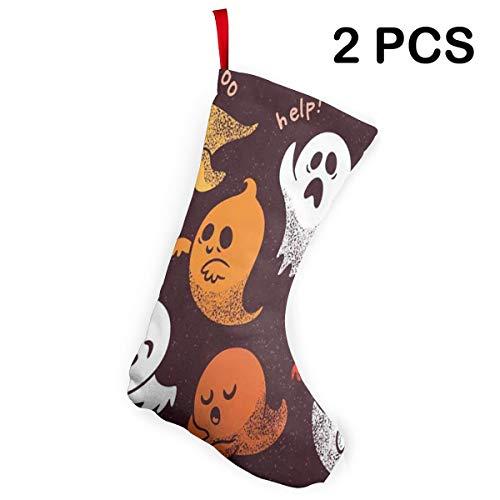 (Ladninag Christmas Stockings Halloween Set Spooky Ghosts Marvellous Christmas Accessory Socks Set of)