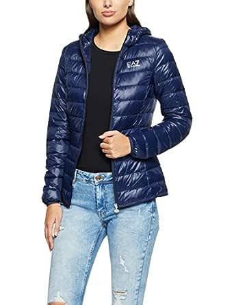 EA7 Emporio Armani Women's Down Jacket, Navy Blue, S