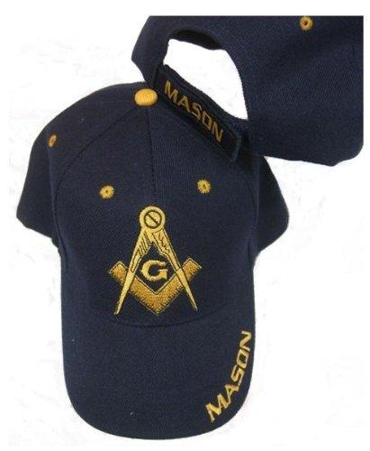 Freemason Embroidered Navy Blue Adjustable Hat Mason Masonic Lodge Baseball Cap