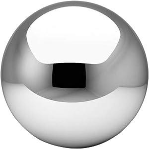 Stainless Steel Gazing Ball, Mirror Polished Hollow-Ball Reflective Garden Sphere High Gloss Glitter Gazing Balls for Gardens Home Ornament Party Decor