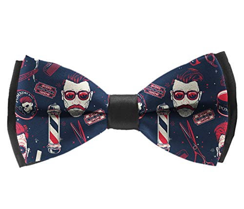 Casual And Formal Pre-Tied Bow Ties - Vintage Barber Shop Tools - New Year Banquet Suit Creative Bow Ties, Adjustable Classic Bow Ties ()