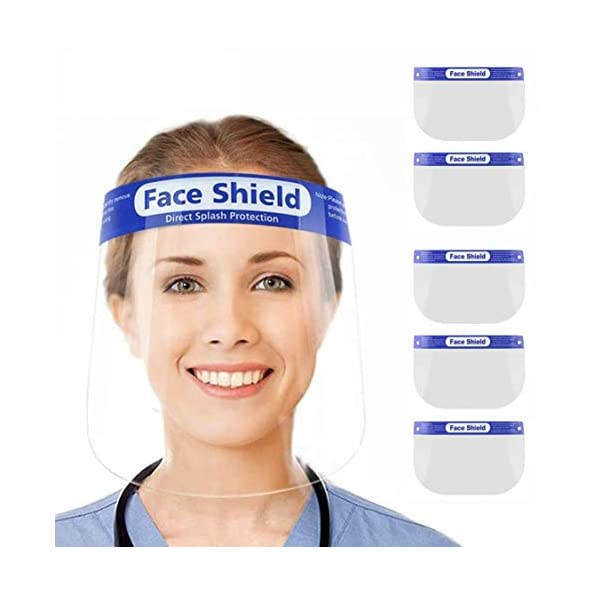 Aclouddates5-Stck-Gesichtsschutz-aus-Kunststoff-Gesichtsschild-Schutzschild-Schutzvisier-Visier-Transparent-Anti-Saliva-Anti-Fog-Splash-fr-Damen-Herren