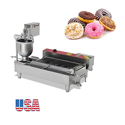 Zinnor Automatic Donut Making Machine, Commercial Doughnut, 7L Donut Maker, 3 Sizes Moulds Auto Donuts, Forming, Frying, Turning, Automatic Temperature Control (2-5days &USA Shipping) by Zinnor