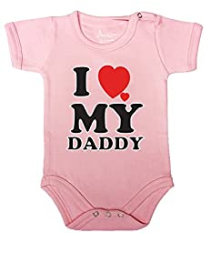 106 Baby Romper Short Sleeve Onesie Unisex I Love My Daddy Gift Bagged A&g
