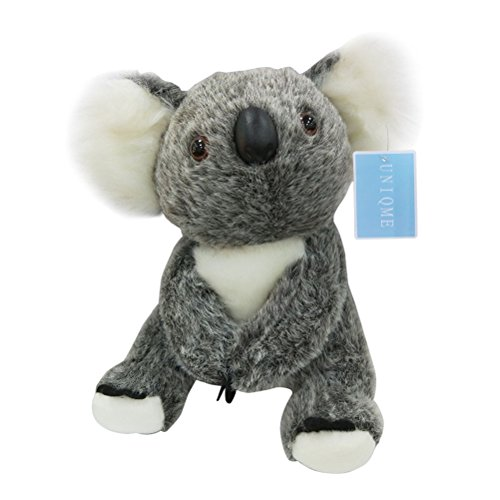 Small Koala - UNIQME Koala Bear Stuffed Plush Toy Gray Kids Cute 3D Animal Dolls Gifts for Baby 11