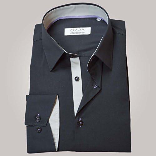 Ozoa-Camisa para hombre, color gris y gris claro trio & camisa no ...