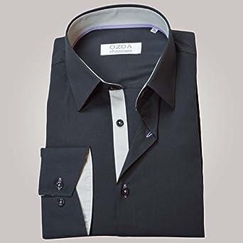 Ozoa Camisa para Hombre Antracita Trio Gris Claro & Mauve ...