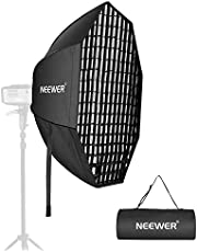 Neewer 36 Inches Octagon Quick Collapsible Softbox with Bowens Mount, Removable Diffusers and Grid, Quick Folding Softbox with Carrying Bag for Photography Studio Speedlite Flash and Monolight