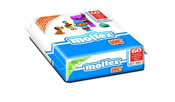 Moltex Premium WC Bolsita de Toallitas Húmedas para Bebé - 60 Toallitas: Amazon.es: Salud y cuidado personal