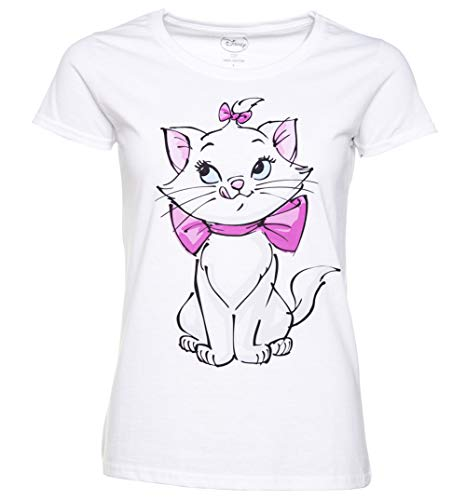 Womens White Disney Aristocats Marie Front and Back Print T Shirt - Movie Tees