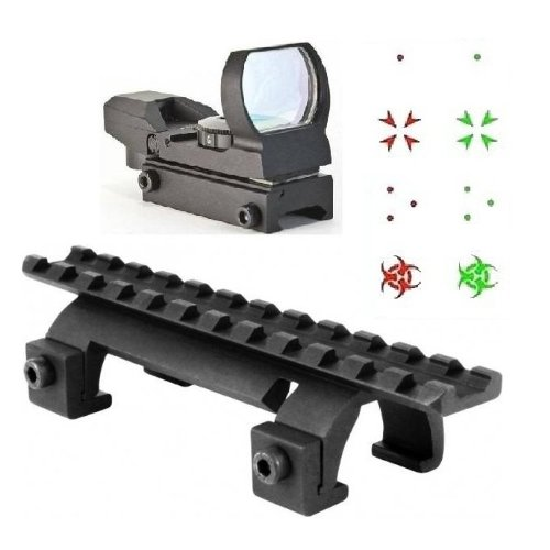 Ultimate Arms Gear Tactical Heckler & Koch H&K HK G3 MP 5 MP5 Submachine Gun Rifle Rail Claw Scope Sight Mount + Reticle Red Green Special Battle Edition Open Reflex (Deluxe Red Dot Sights)