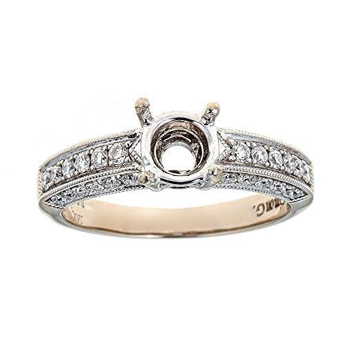 (Simon G. 18K White Gold & Diamond Ring)