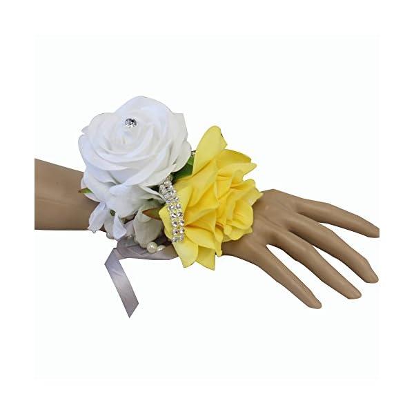 Angel-Isabella-Wrist-Corsage-Beautiful-Handmade-Wrist-Corsage-Keepsake-Artificial-Roses-40Colors