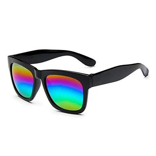 Brendacosmetic 2016 New Color Mirror Lens Large Square Horn Rimmed Polarised Sunglasses ,Fashion Bright reflective sunglasses Vintage Classic for Women Ladies - For Men Flipkart Sunglasses
