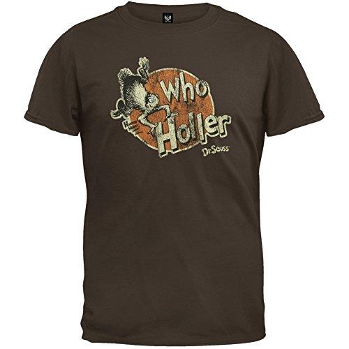 Dr. Seuss - Mens Who Holler T-shirt Large Brown OG Exclusive -