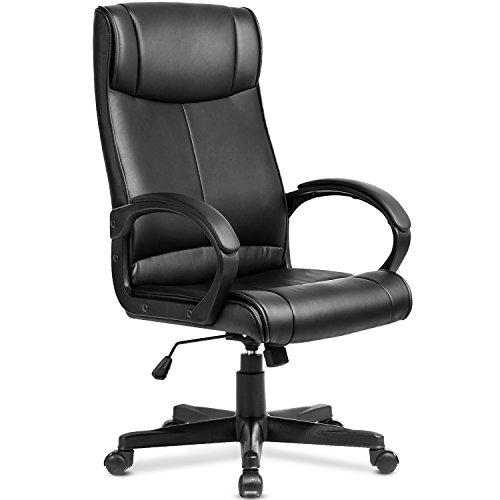 Modern Luxe High Back Executive Chair Ergonomic PU Leather Office Chair (Black PU)