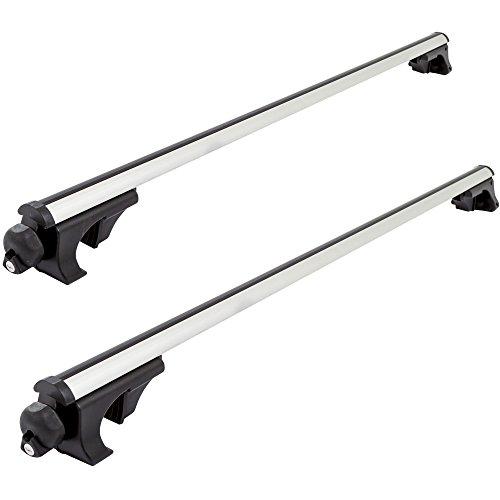 53-5/8 Aluminum Locking Vehicle Roof Cargo Bar Pair