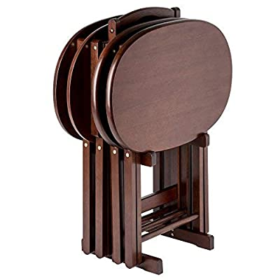 Winsome Nathan 5-PC Set Cappuccino Snack Table