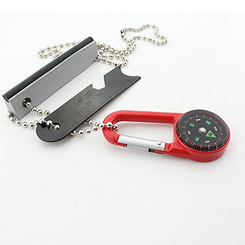 Necklace for Men Multitool Compass Bottle Opener Keychain Magnesium Fire Starter by G.A.M.E. Changer LLC