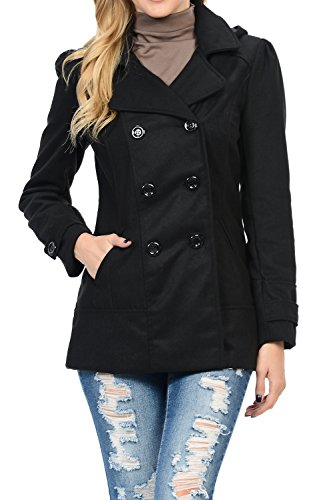 Wool Blend Hooded Coat - 2
