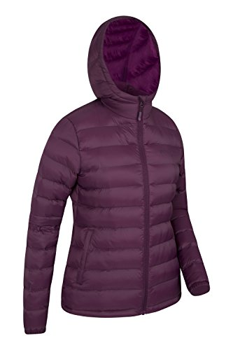 Ladies Hood Womens Elastic Resistant Mountain Padded for Jacket Water Adjustable Holidays Warehouse amp; in Burgundy Weather Coat Seasons Front Cuffs Cold Pockets EBqwZwx0C