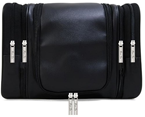 Hanging Leather Toiletry Bag - 3