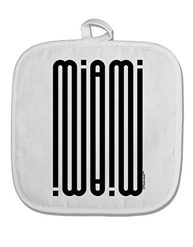 TooLoud Miami Mirage White Fabric Pot Holder Hot Pad