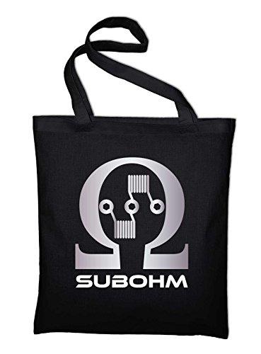 Black Jute Culture Styletex23bagsubohm8 Logo Cotton Double Bag yellow Yellow For Subohm tqav4v