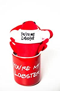 """You're My Lobster"" Mug and Plush with White Tee Duo, inspired by Friends"