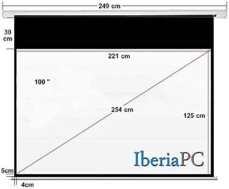 IberiaPC - Pantalla proyector eléctrica 100 de 2210 x 1250 ...