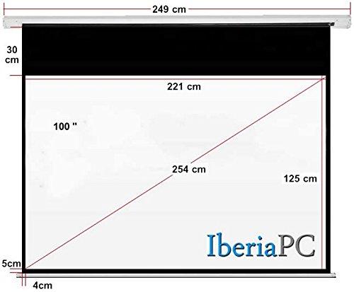 IberiaPC - Pantalla proyector eléctrica 100 de 2210 x 1250 mm ...