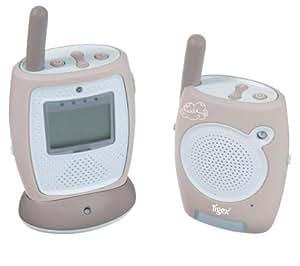 Tigex Baby Alarme Advance Plus - Vigilabebé (LCD, Gris, Color blanco)