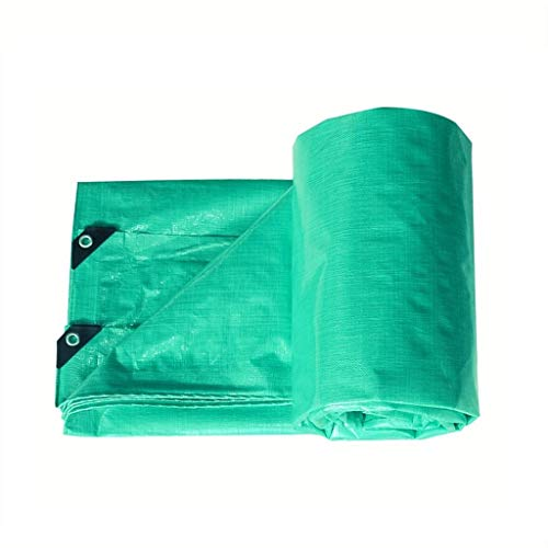 GRJ-FSB Light Tarpaulin Green Sunshade Sun Protection UV Protection for Outdoor Truck Cover Garden Plant Protection Wood Floor Moisture Sheet Tide Ultralight Tricycle Truck Tarps (Size : 5mx7m)