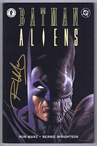Batman Aliens TPB 1st Printing VF/NM Signed w/COA Ron Marz 1997 DC Dark Horse (Batman A Death In The Family 1988)