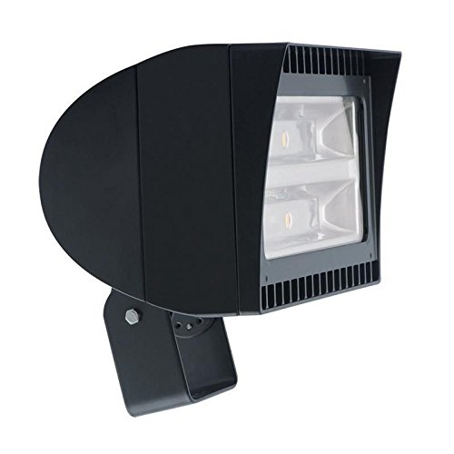 Rab FXLED78T/PCT FXLED Series LED Flood Light Fixture 78 Watt 120 - 277 Volt Twist-Lock Photocell 5100K Trunnion Mount Bronze
