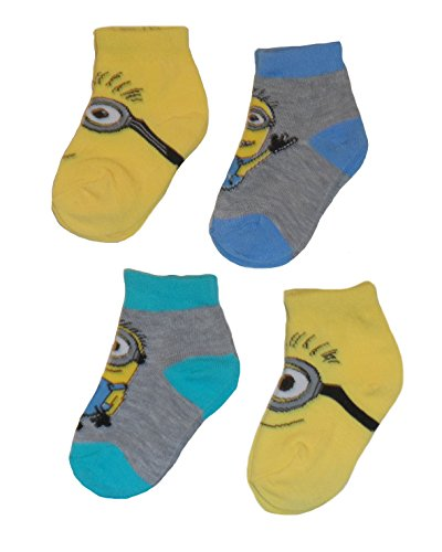 Despicable Me Minion Made Toddler Little Boys' Socks - 4 pk. (4T-5T, - Logo Despicable Minion Me