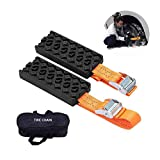 Search : Outzone Anti Skid Tire Blocks 2PCS Emergency Snow Mud Sand Tire Chain Straps Traction Device for Trucks and SUVs with Carry Bag- Get Unstuck Now