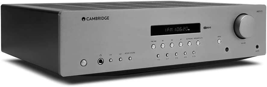 Cambridge Audio AXR85 85 Watt Stereo Receiver with Bluetooth   Built-in Phono, 3.5mm Input, AM/FM with RDS