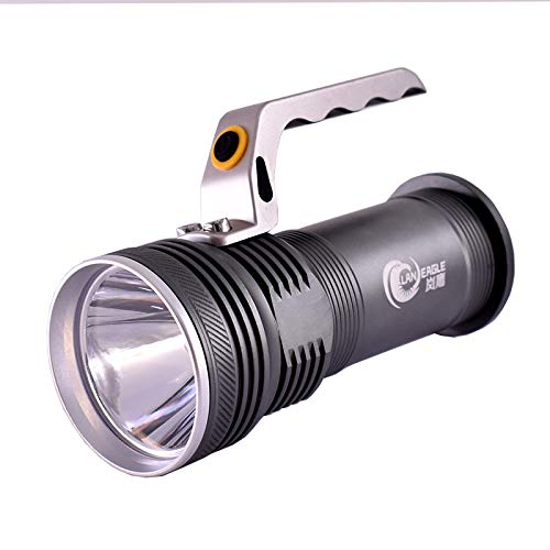 Portable Flashlight Glare Zoom Remote Super Bright Camping Emergency Light for Hurricane Emergency, Hiking, Home and More, USB Cable Included
