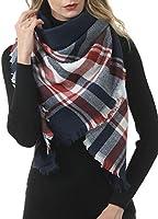 Gnpolo Blanket Scarf for Women Men Winter Thick Travel Chunky Warm Wrap Shawl Tartan Scarves