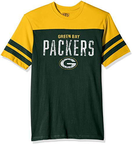 (NFL Green Bay Packers Men's OTS Cotton Yoke Stripe Tee, Washington, Medium)