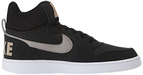 Nike Heren Court Stadje Mid Basketbalschoenen Zwart / Metallic Tinnen / Kaki / Wit